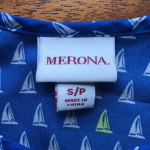 4/$20 blue tank top with sailboats